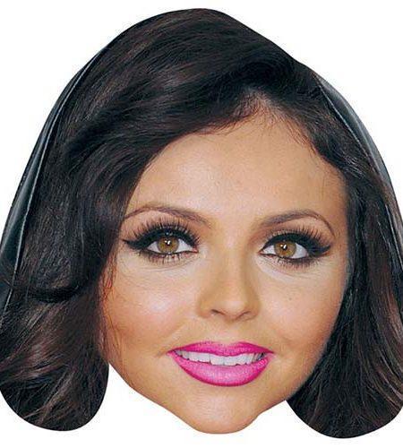 A Cardboard Celebrity Mask of Jesy Nelson