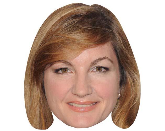 A Cardboard Celebrity Mask of Karren Brady