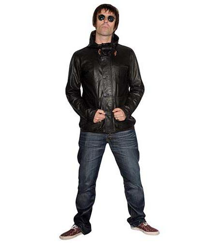 A Lifesize Cardboard Cutout of Liam Gallagher wearing jeans