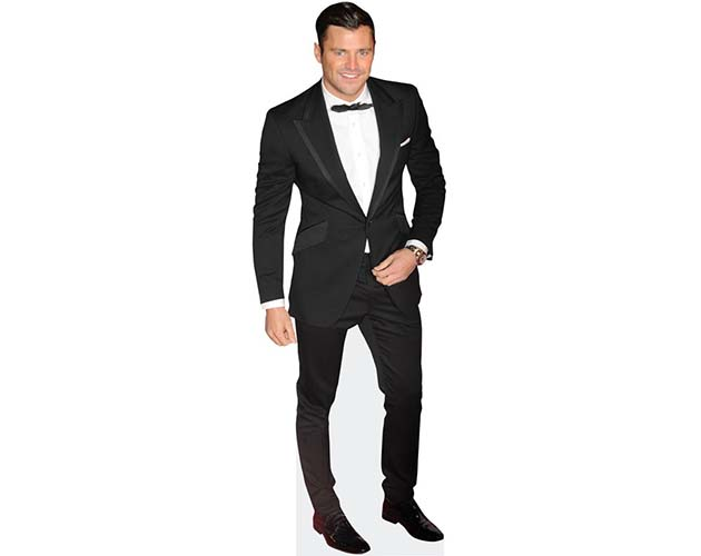 A Lifesize Cardboard Cutout of Mark Wright wearing a bowtie