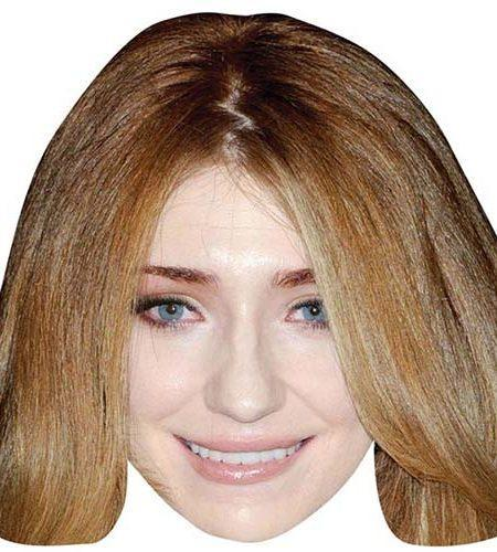 A Cardboard Celebrity Mask of Nicola Roberts