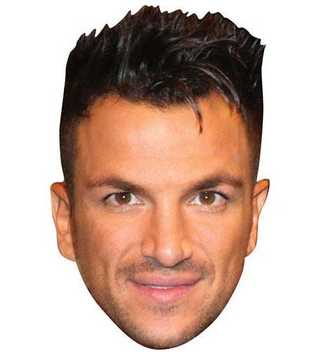 A Cardboard Celebrity Mask of Peter Andre