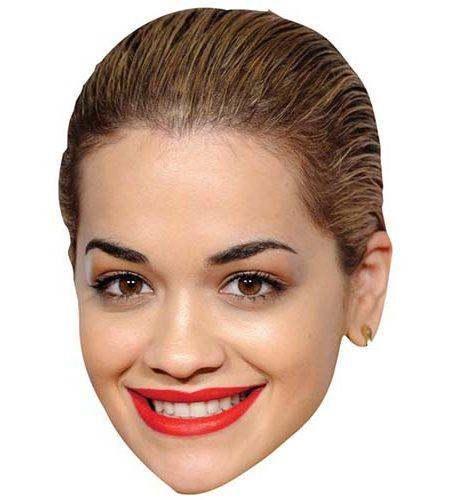 A Cardboard Celebrity Mask of Rita Ora