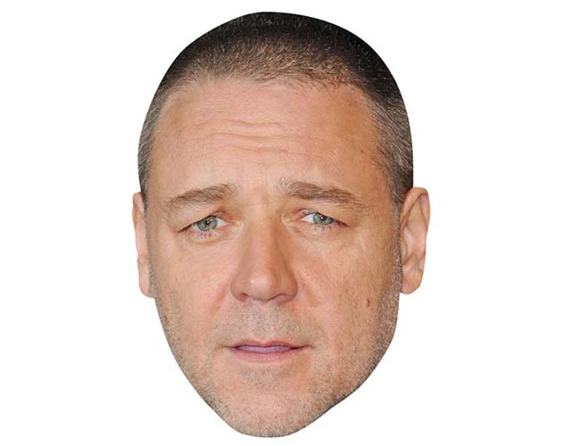 A Cardboard Celebrity Mask of Russell Crowe