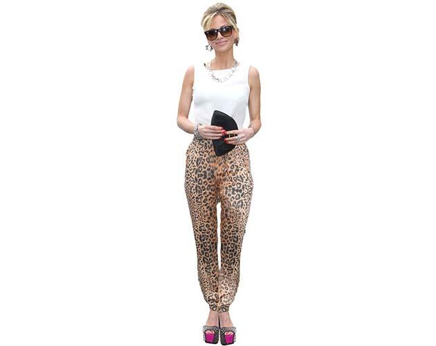 A Lifesize Cardboard Cutout of Sarah Harding wearing sunglasses