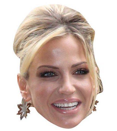 A Cardboard Celebrity Mask of Sarah Harding