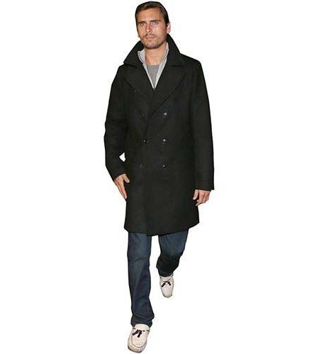 A Lifesize Cardboard Cutout of Scott Disick wearing a trench coat