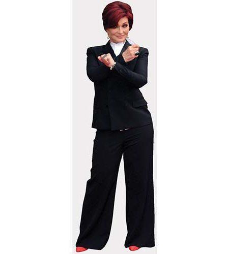 A Lifesize Cardboard Cutout of Sharon Osbourne striking a pose
