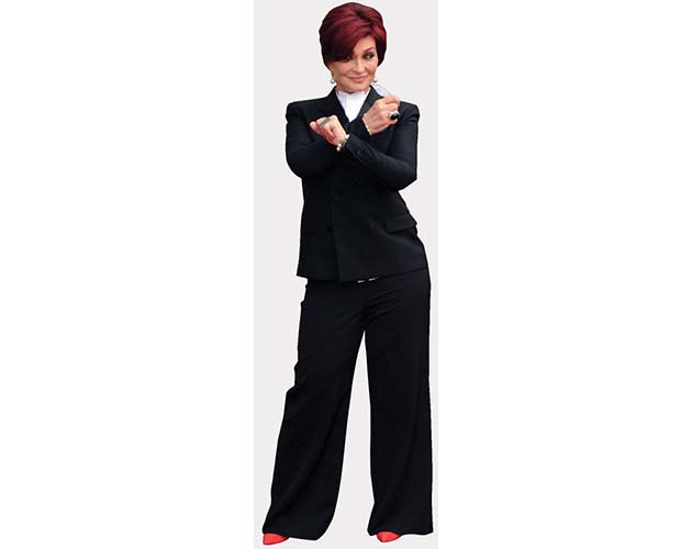 A Lifesize Cardboard Cutout of Sharon Osbourne striking a pose