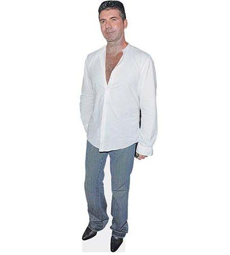 A Lifesize Cardboard Cutout of Simon Cowell wearing jeans