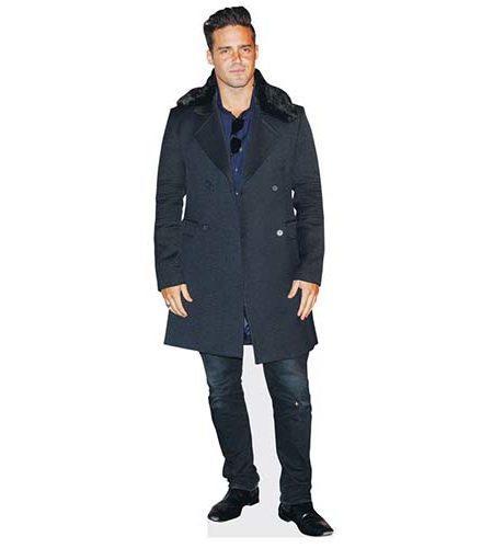 A Lifesize Cardboard Cutout of Spencer Matthews wearing a coat