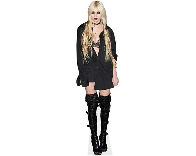 A Lifesize Cardboard Cutout of Taylor Momsen dressed in a gothic style