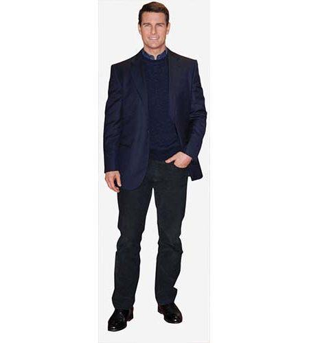 A Lifesize Cardboard Cutout of Tom Cruise wearing a dark suit