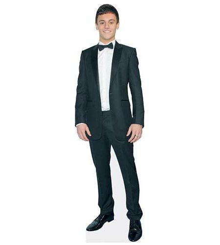 A Lifesize Cardboard Cutout of Tom Daley wearing a bowtie