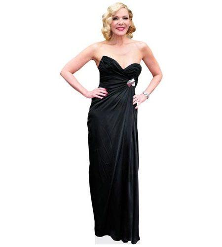 A Lifesize Cardboard Cutout of Kim Cattrall wearing