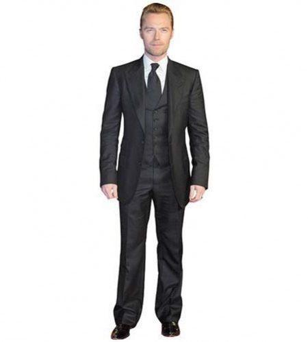 A Lifesize Cardboard Cutout of Ronan Keating wearing a suit