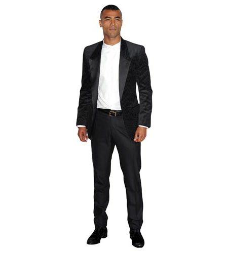 A Lifesize Cardboard Cutout of Ashley Cole wearing a suit