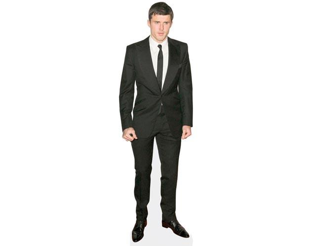 A Lifesize Cardboard Cutout of Michael Carrick suited and booted