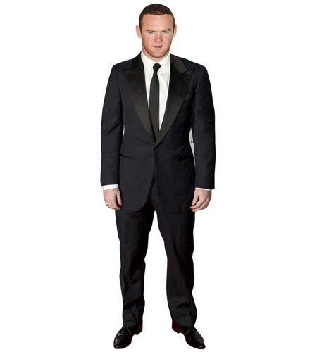 A Lifesize Cardboard Cutout of Wayne Rooney dressed smartly