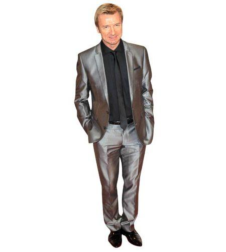 A Lifesize Cardboard Cutout of Christopher Dean wearing a shiny suit