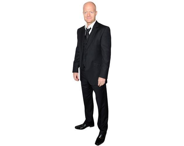 A Lifesize Cardboard Cutout of Jake Wood wearing a suit