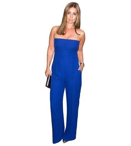 A Lifesize Cardboard Cutout of Louise Redknapp wearing a blue trouser suit