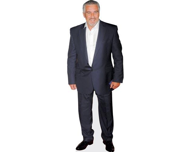 A Lifesize Cardboard Cutout of Paul Hollywood wearing a dark suit