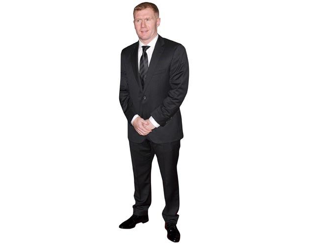 A Lifesize Cardboard Cutout of Paul Scholes dressed smartly