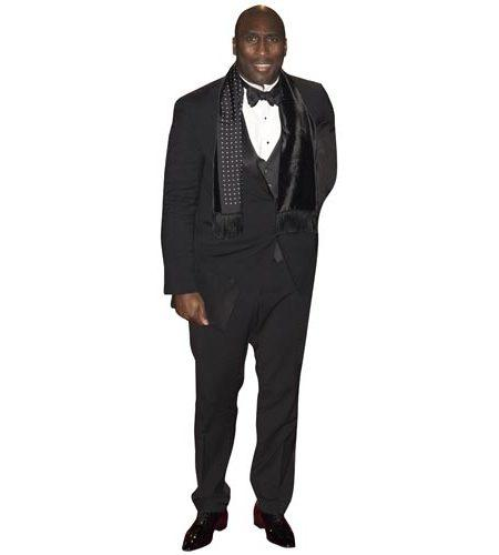 A Lifesize Cardboard Cutout of Sol Campbell wearing a dinner suit