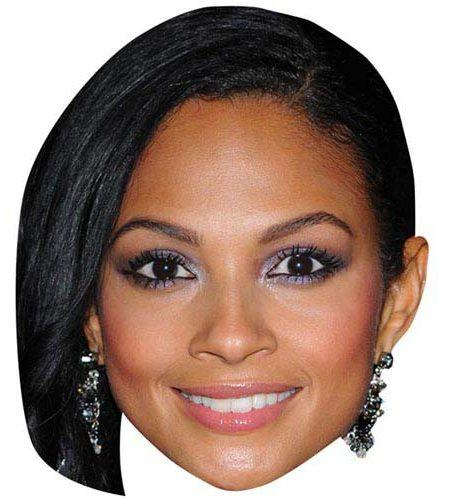 A Cardboard Celebrity Mask of Alesha Dixon