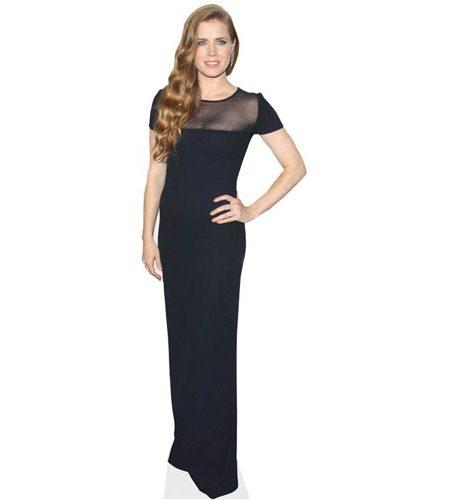 A Lifesize Cardboard Cutout of Amy Adams wearing a black dress
