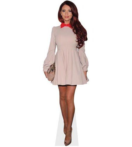 A Lifesize Cardboard Cutout of Amy Childs wearing a short dress