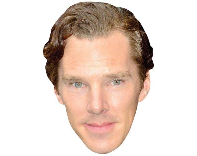 A Cardboard Celebrity Mask of Benedict Cumberbatch