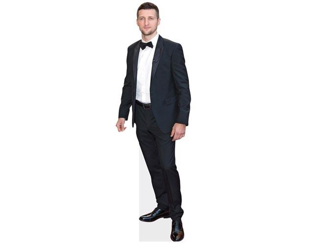 A Lifesize Cardboard Cutout of Carl Froch wearing a suit