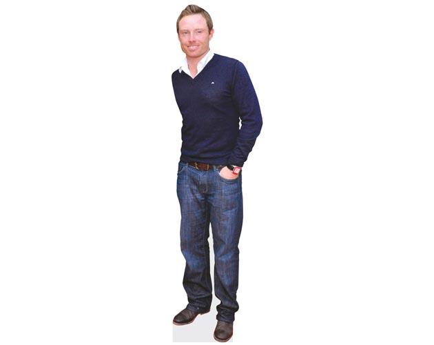 A Lifesize Cardboard Cutout of Ian Bell looking casual