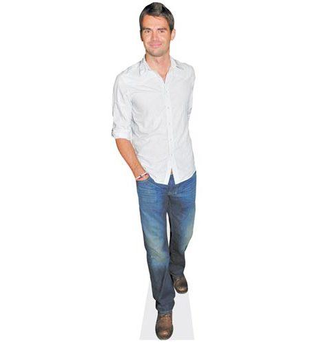 A Lifesize Cardboard Cutout of James Anderson wearing jeans