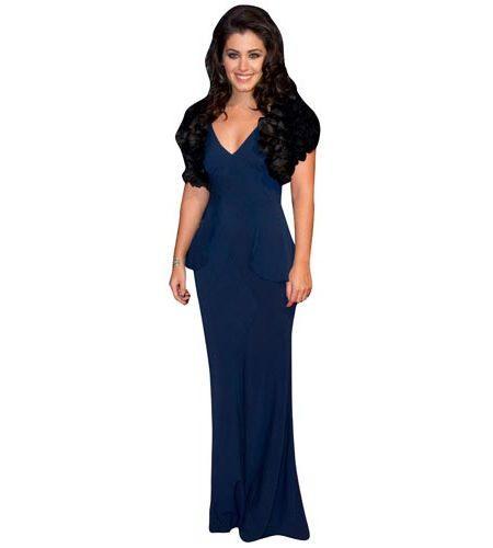 a Lifesize Cardboard Cutout of Katie Melua wearing a blue gown