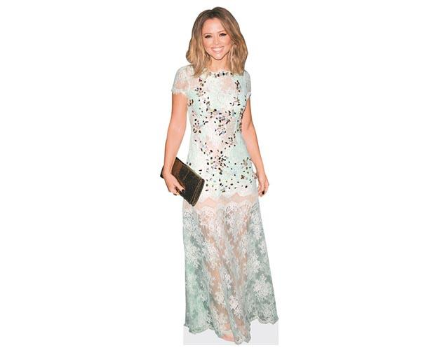 A Lifesize Cardboard Cutout of Kimberley Walsh wearing a blue dress