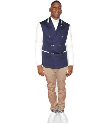 A Lifesize Cardboard Cutout of Labrinth wearing chinos