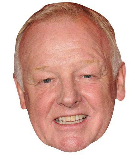 A Cardboard Celebrity Mask of Les Dennis