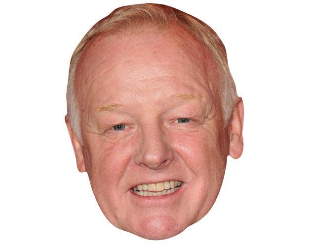 A Cardboard Celebrity Mask of Les Dennis