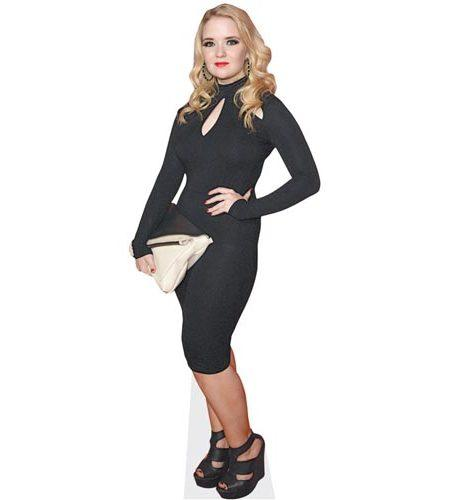 A Lifesize Cardboard Cutout of Lorna Fitzgerald wearing black