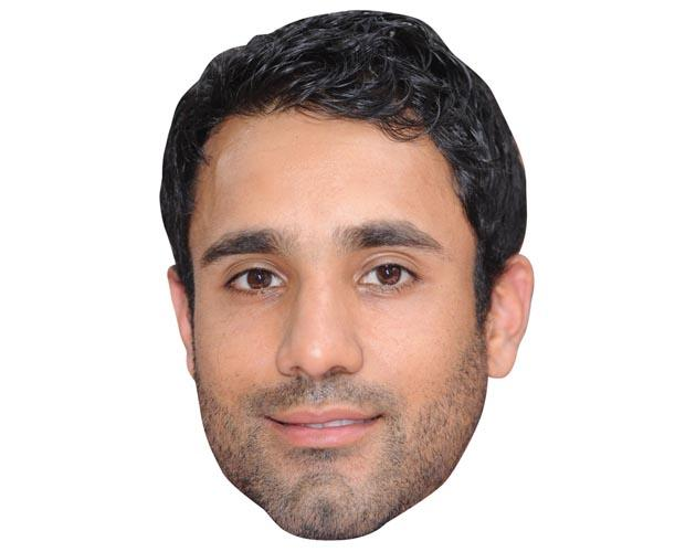 A Cardboard Celebrity Mask of Ravi Bopara