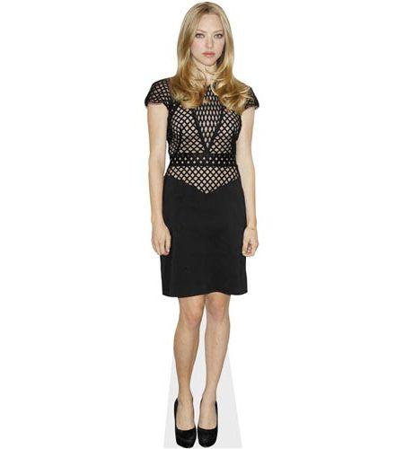 A Lifesize Cardboard Cutout of Amanda Seyfried wearing a black dress