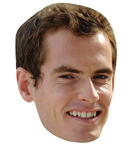 A Cardboard Celebrity Mask of Andy Murray