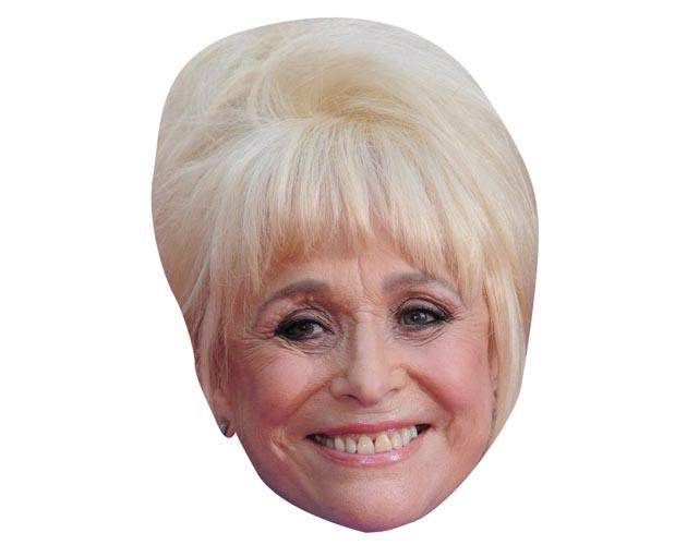 A Cardboard Celebrity Mask of Barbara Windsor