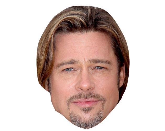 A Cardboard Celebrity Mask of Brad Pitt
