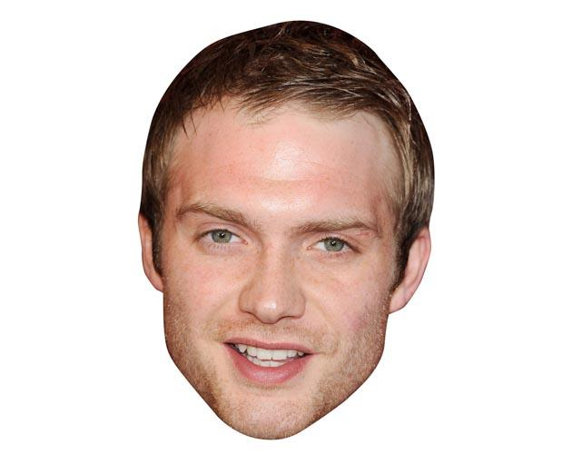 A Cardboard Celebrity Mask of Chris Fountain