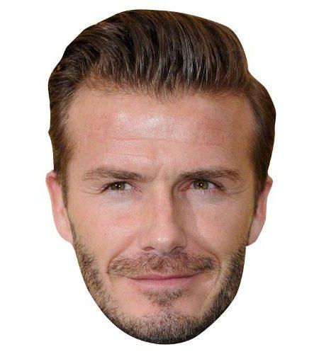 A Cardboard Celebrity Mask of David Beckham