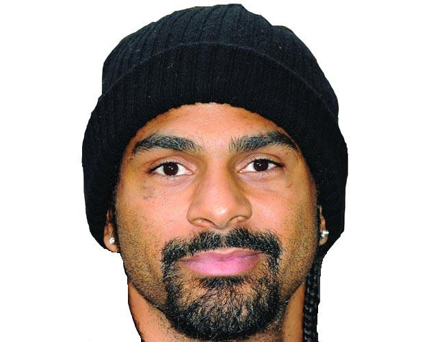 A Cardboard Celebrity Mask of David Haye